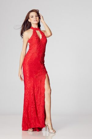Illusion Prom Ava – Evening Gown Red 12 (SALE)