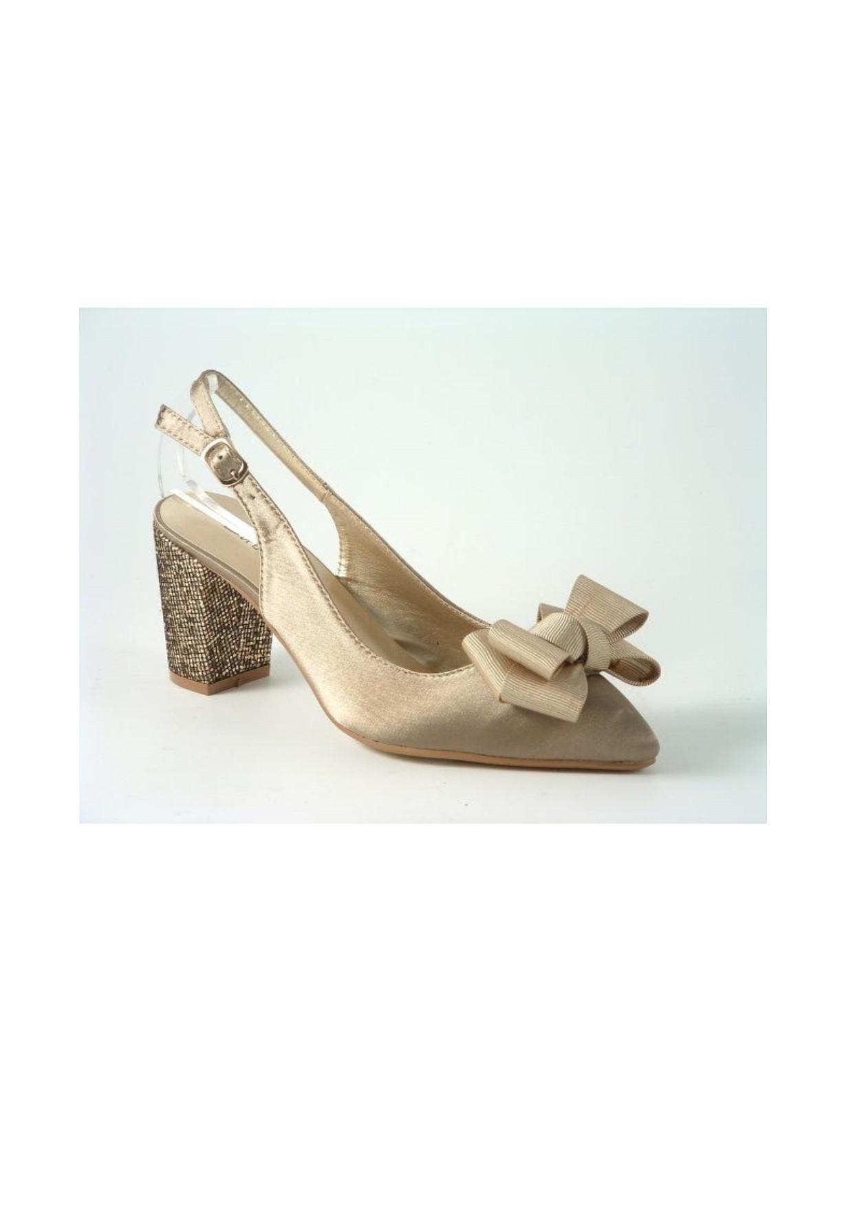 Sabatine - Champagne Satin Shoes
