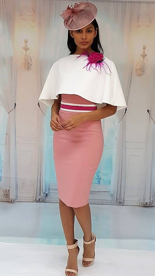 Red Amp Royal London Pink Cream Dress Amp Cape Dressy Dresses