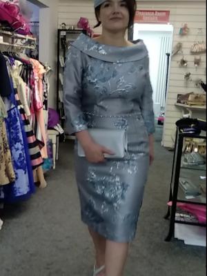 Ella Boo AW19 2827 – Grey Blue Dress