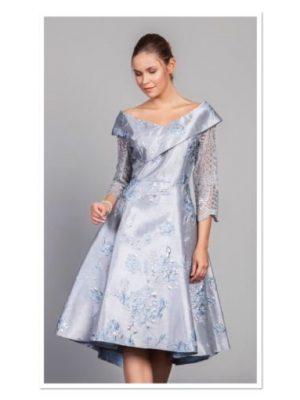 Ella Boo AW19 2825 – Grey Blue Dress
